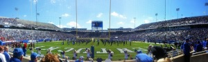 Nine minutes before kickoff at Commonwealth Stadium