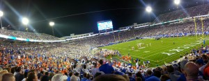 Stadium view of the game